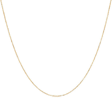 "14K Gold 20"" Adjustable Diamond Cut Cable Link Chain, 1.3g"