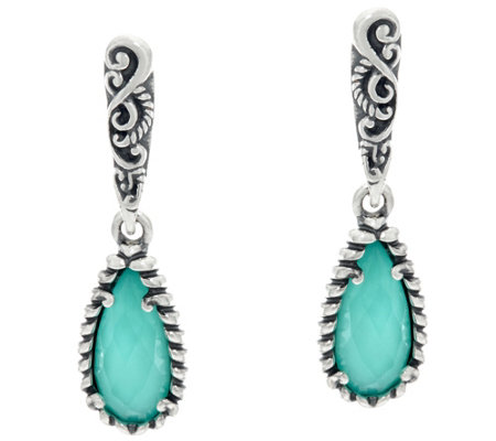 Carolyn Pollack Empress Sterling Silver Gemstone Earrings