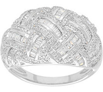 Pave' Diamond Basketweave Ring, 14K, 3/4 cttw, by Affinity - J335019