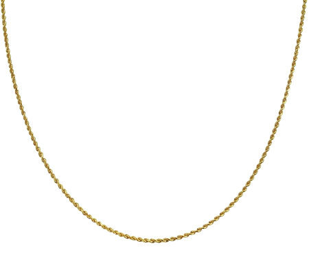 "EternaGold 32"" 009 Solid Rope Chain Necklace, 14K Gold, 5.6g"
