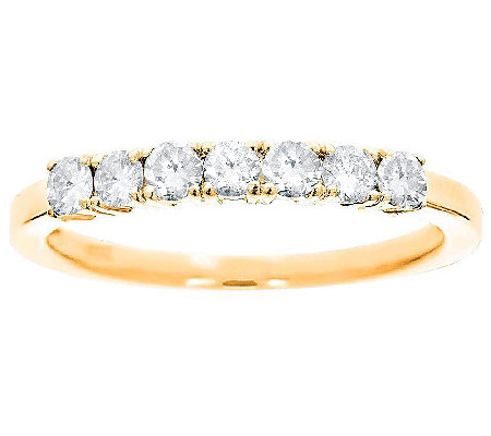 7-Stone Band Diamond Ring, 14K Gold, 1/2cttw byAffinity