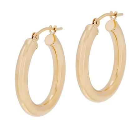 Eternagold 3 4 Polished Round Hoop Earrings