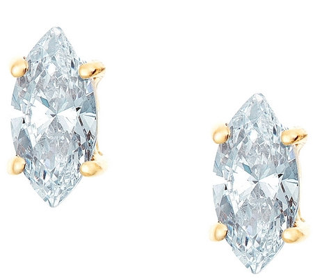 Marquise Diamond Earrings, 14K Gold, 3/4 cttw,by Affinity