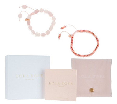 Lola Rose Abbey Road Gemstone Adjustable Bracelet Set