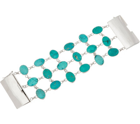 EXEX by Claudia Agudelo Sterling Silver Turquoise Bracelet