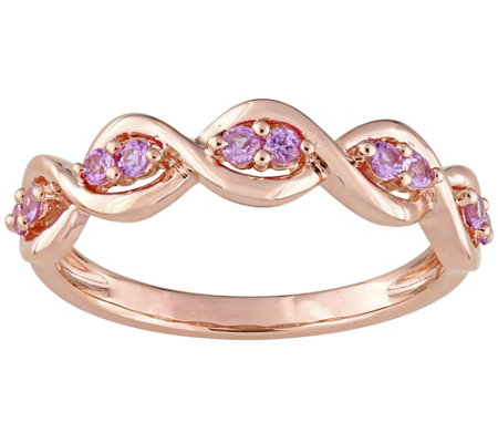 0.30 cttw Pink Sapphire Infinity Ring, 14K RoseGold