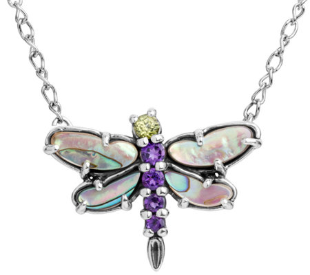 Carolyn Pollack Natural Beauty Dragonfly Gemstone Necklace