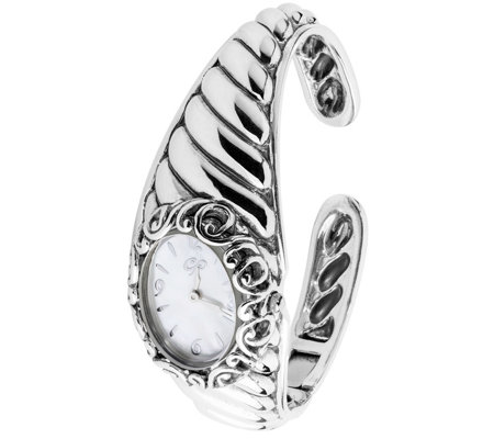 Carolyn Pollack Sterling Silver & White Mother-of-Pearl Watch