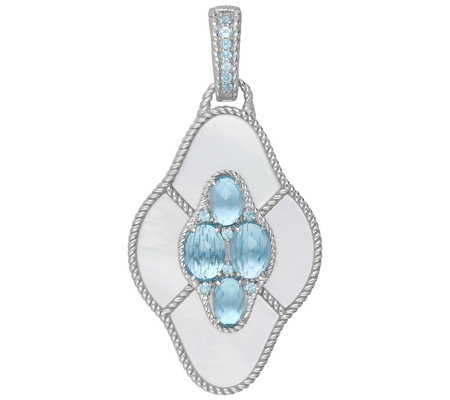 Judith Ripka Sterling Blue Multi-Gemstone Pendant