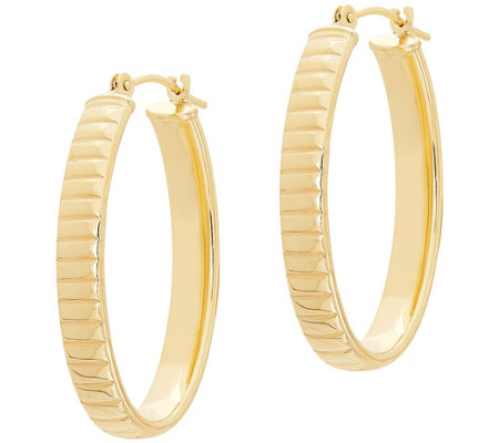 Eternagold 1 8 Oval Omega Hoop Earrings 14kgold