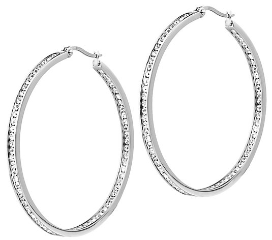 "Steel by Design 2"" Inside Out Hoop Earrings"