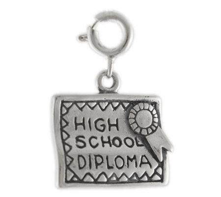 Sterling High School Diploma Charm