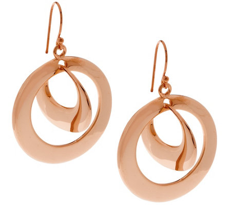 RLM Bronze Twin Hoop Mobile Dangle Earrings