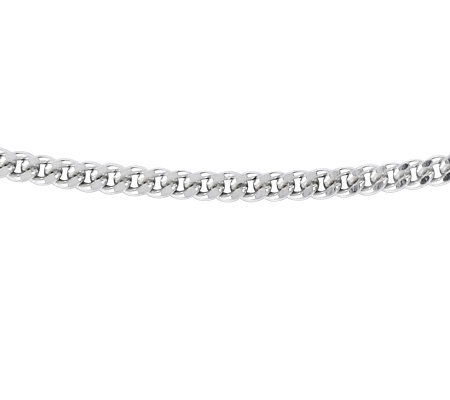 "Sterling 18"" Polished Solid Flat Curb Chain"