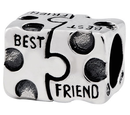 Prerogatives Sterling Best Friend Puzzle Piecebead