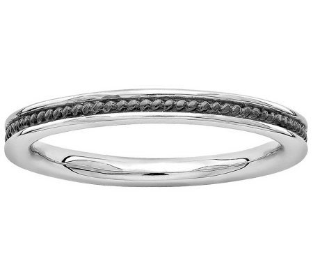 Simply Stacks Sterling Textured Channel Ring