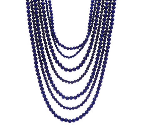 BaubleBar Bold Beaded Multi-Strand Necklace