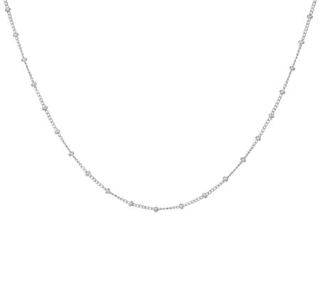 "Dogeared Sterling Silver ""100 Good Wishes"" Necklace"