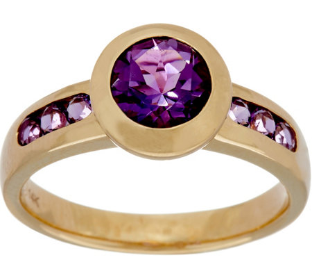Semi-Precious Gemstone Solitaire Ring, 14K Gold 1.35 cttw