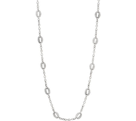 "Tiffany Kay Studio Sterling Silver Purl 36"" Chain Necklace"