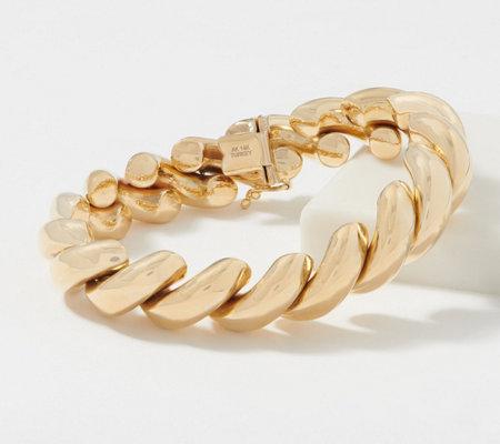 14k Gold Bold San Marco 7 1 4 Bracelet 26 0g Qvc