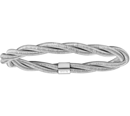Italian Silver Twisted Flexible Bangle Sterling, 15.6g