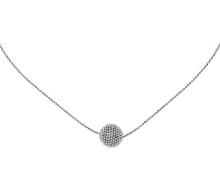 Italian Collection Silver Beaded Ball NecklaceSterling, 6.6g