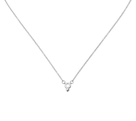 Sterling Female Symbol Necklace by Silver Style, 1.0g