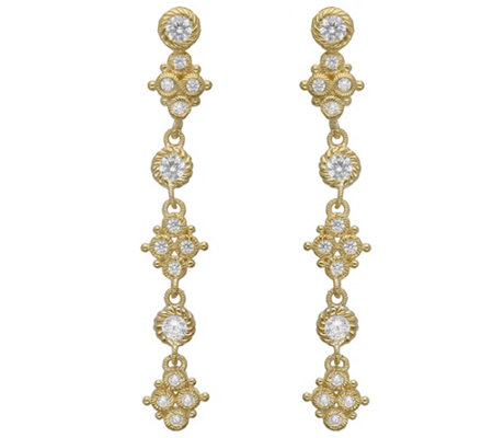 Judith Ripka 14K Clad Diamonique Drop Earrings