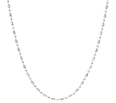 Ultrafine Silver 24 Diamond Cut Bead Necklace