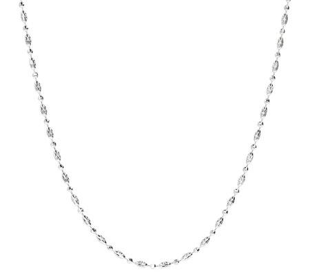 Ultrafine Silver 24 Diamond Cut Bead Necklace