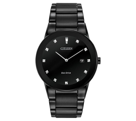 Citizen Men's Eco-Drive Axiom Diamond Accent Black Watch