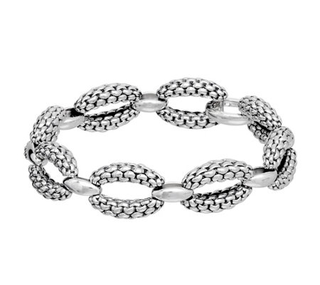 ca3e9e839dc84 Tiffany Kay Studio Sterling Purl Knit Link Bracelet — QVC.com