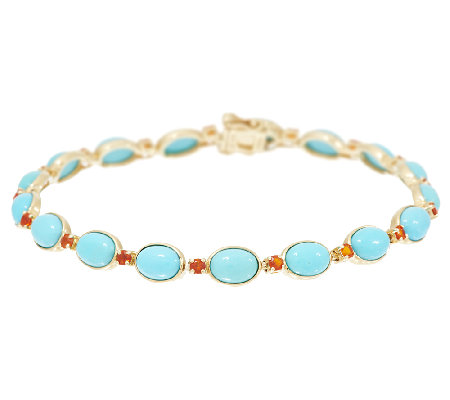 6 3 4 Sleeping Beauty Turquoise Fire Opal Bracelet