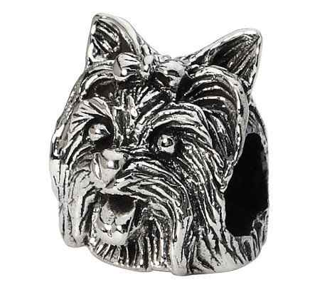 Prerogatives Sterling Yorkshire Terrier Head Bead