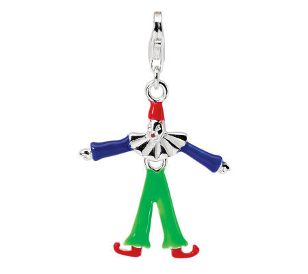 Amore La Vita Sterling Clown Charm