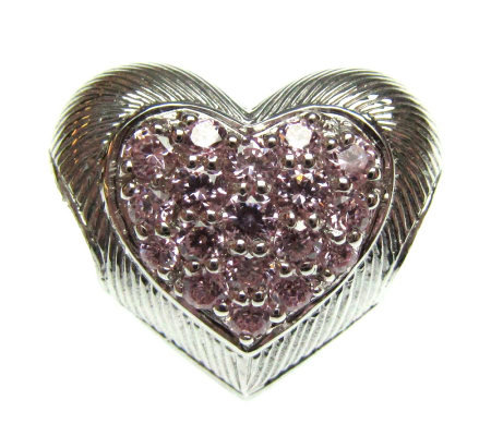Judith Ripka Sterling Diamonique Puffed HeartCharm