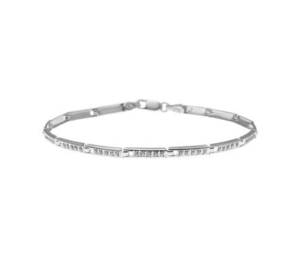 "Diamond Fascination 7-1/4"" Bracelet, 14K WhiteGold"