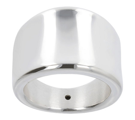 UltraFine Silver Highly Polished Graduated Saddle Ring