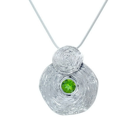 Hagit Gorali Sterling Gemstone Vibes Pendant with Chain