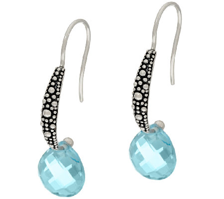 Michael Dawkins Starry Night Sterling & 6.50 ct Blue Topaz Earrings