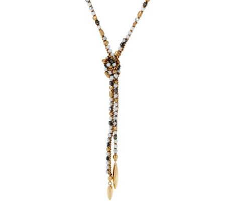 Stella & Dot Zoe Lariat Necklace, Goldtone