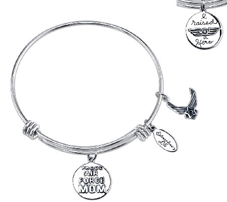 Sterling Expandable Military Bangle by Extraordinary Life