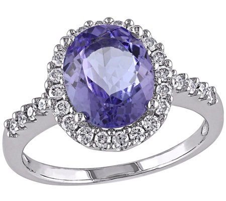2.50 ct Tanzanite & Diamond Ring, 14K Gold