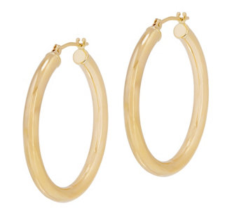 Eternagold 1 8 L Polished Round Hoop Earrings 14k J344721