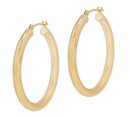 Eternagold 1 8 L Polished Round Hoop Earrings