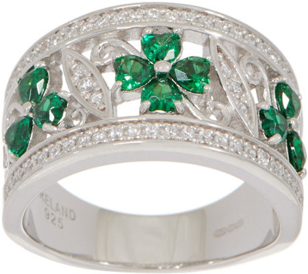Solvar Sterling Silver Clover and Shamrock Ring