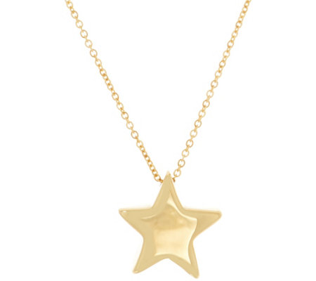 "Italian Gold Celestial 18"" Necklace, 14K Gold"