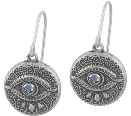Alex and Ani Evil Eye Drop Earrings