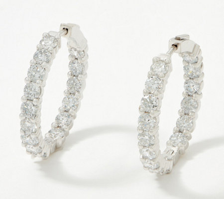 Fire Light Lab Grown Diamond 14K Gold Hoop Earrings, 6.00cttw